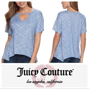 w/TAG JUICY COUTURE CUT OUT Shark Bite TOP TEE